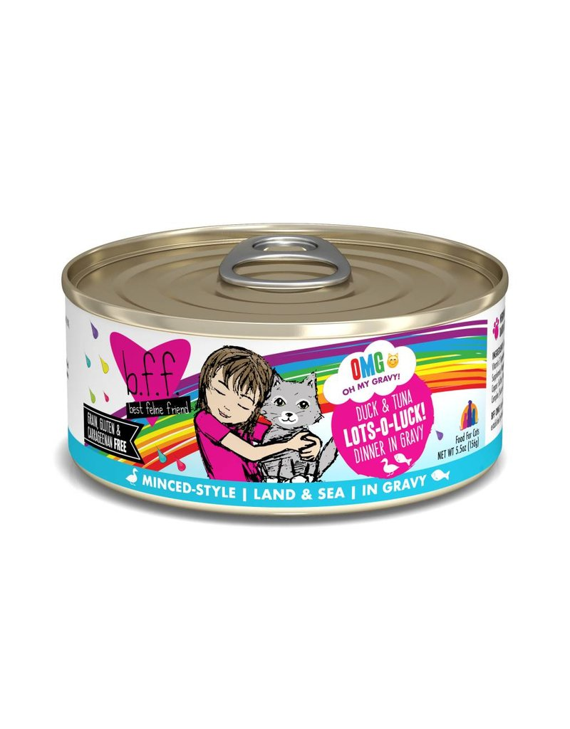 Weruva BFF BFF OMG Duck & Tuna Lots-O-Luck Canned Cat Food Case
