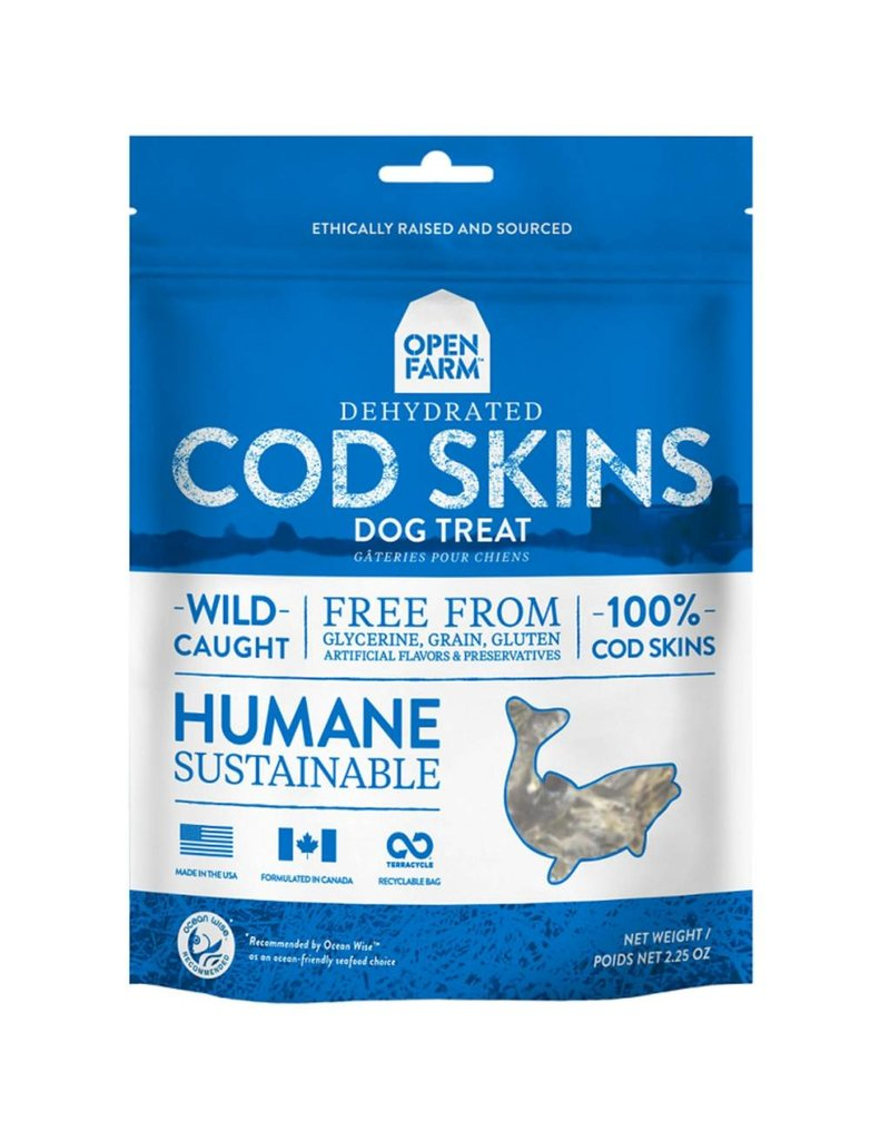 Open Farm OPEN FARM Cod Skin Dog Treat 2.25 oz.