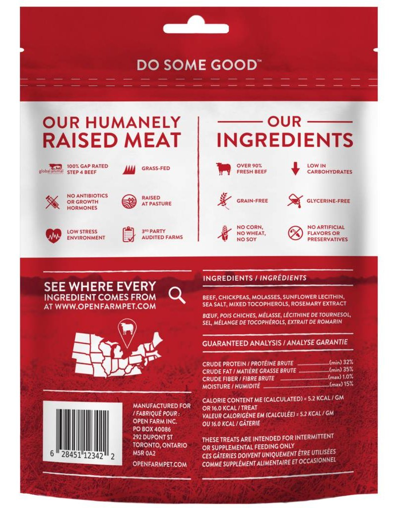 Open Farm !OPEN FARM Dehydrated Beef Dog Treat 4.5 oz.