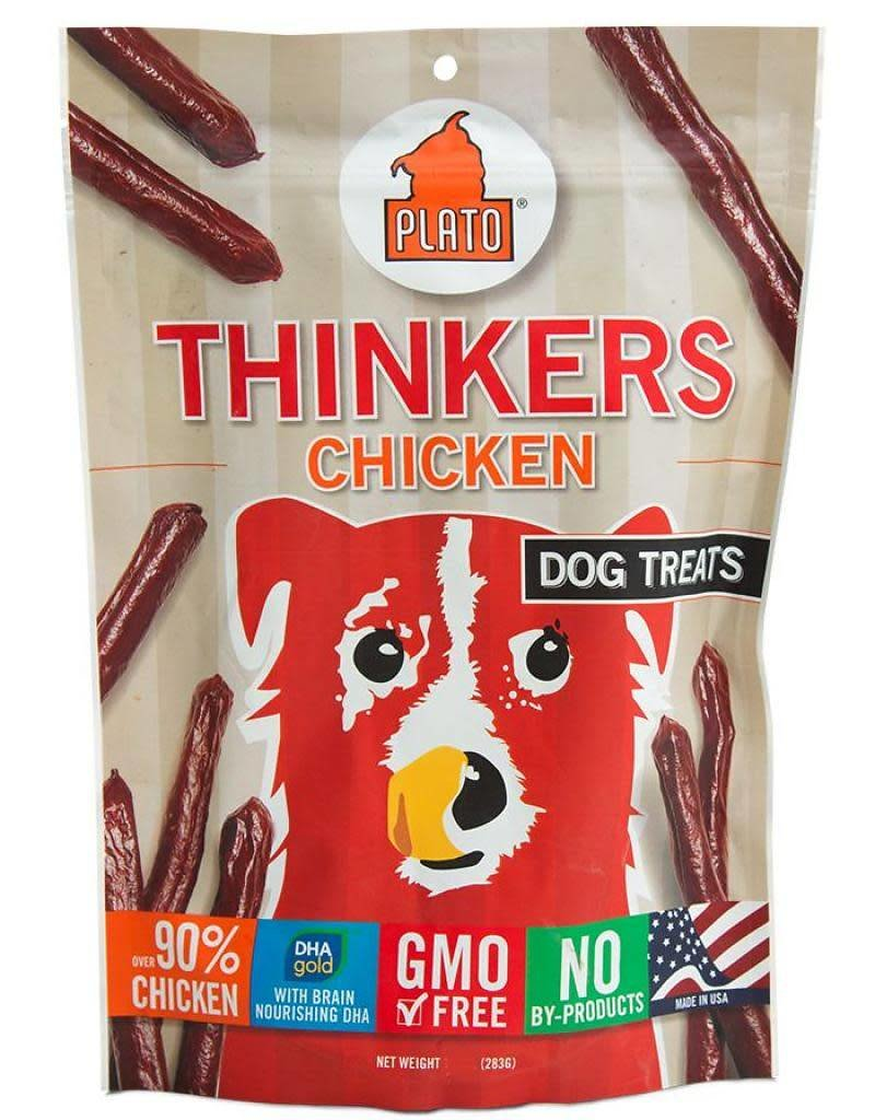 Plato Pet Treats PLATO Thinkers Dog Treats in Chicken