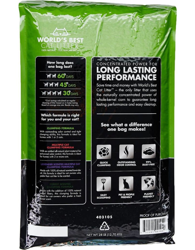 Worlds Best Cat Litter WORLDS BEST Clumping Unscented Cat Litter