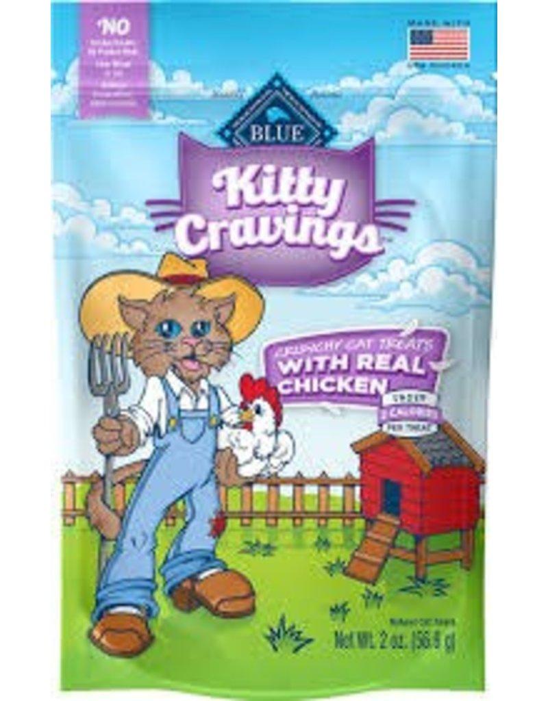 Blue Buffalo BLUE BUFFALO Kitty Cravings Crunchy Cat Treat 2oz Chicken