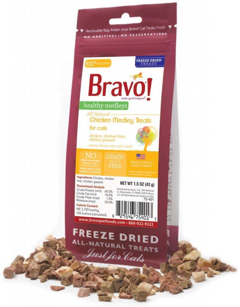 BRAVO! Pet Food BRAVO! Freezedried Chicken & Organ Cat Treat 1.5OZ