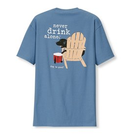 Dog is Good DOG IS GOOD Never Drink Alone LS Unisex Tee Blue