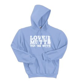 Dog is Good DOG IS GOOD Love The Mutt Your With Unisex Hoodie Sweatshirt Blue