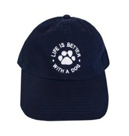 SPOILED ROTTEN DOGZ Life is Better With a Dog Hat Navy