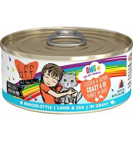 Weruva BFF OMG Chicken & Salmon Crazy For You Canned Cat Food Case