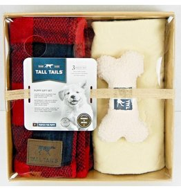Tall Tails TALL TAILS Dog Blanket Gift Set Hunter Plaid