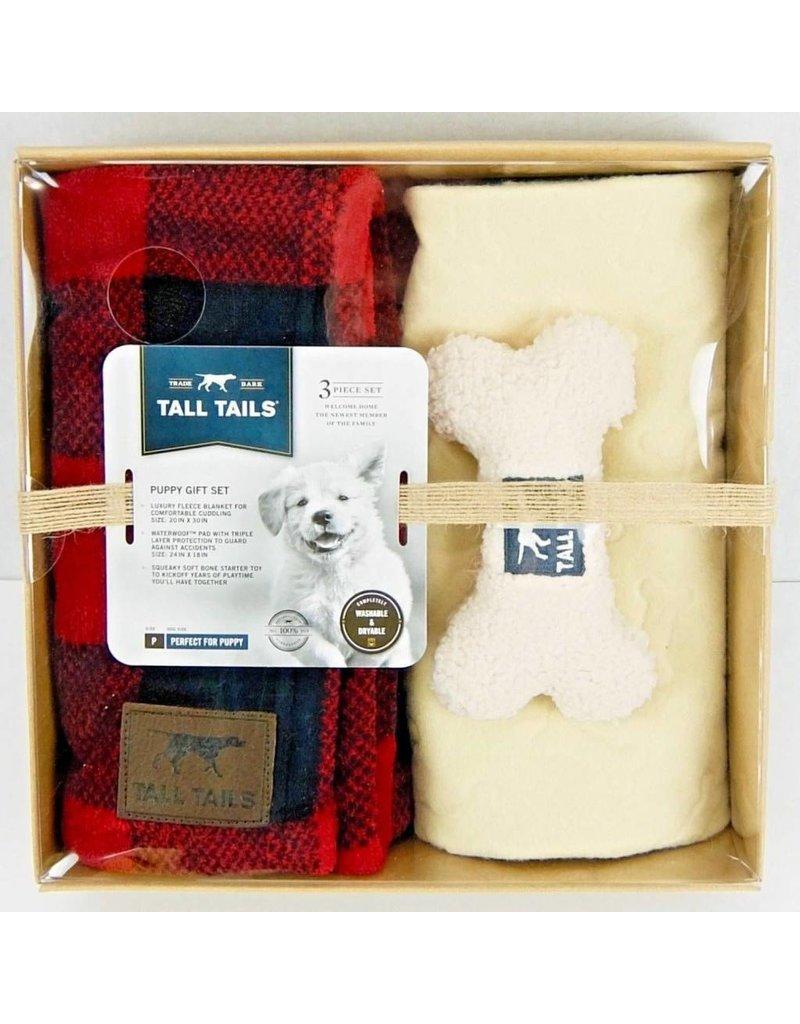 Tall Tails TALL TAILS Dog Blanket Gift Set Hunter Plaid