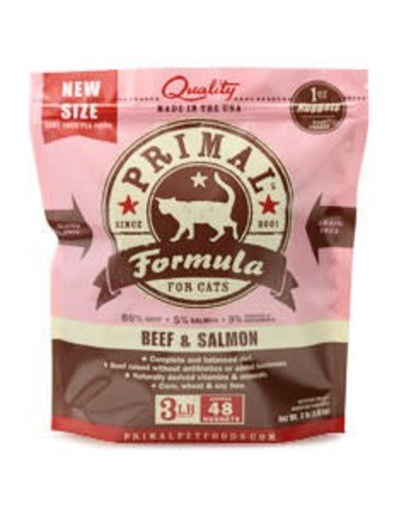 Primal Pet Foods PRIMAL Frozen Raw Feline Beef & Salmon Formula 3 lb.