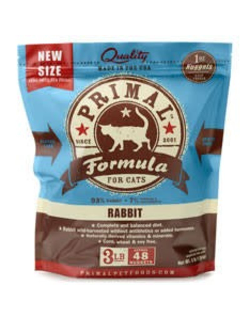 Primal Pet Foods PRIMAL Frozen Raw Feline Rabbit Formula 3 lb.