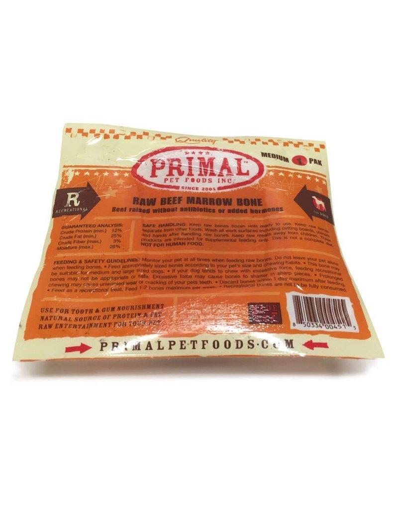Primal Pet Foods PRIMAL Frozen Raw Beef Marrow Bone 1 Pack Medium