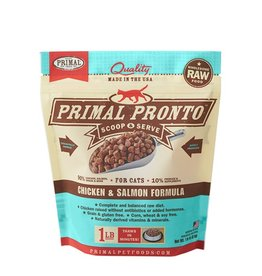 Primal Pet Foods PRIMAL Pronto Frozen Raw Feline Chicken & Salmon Formula 1 lb.