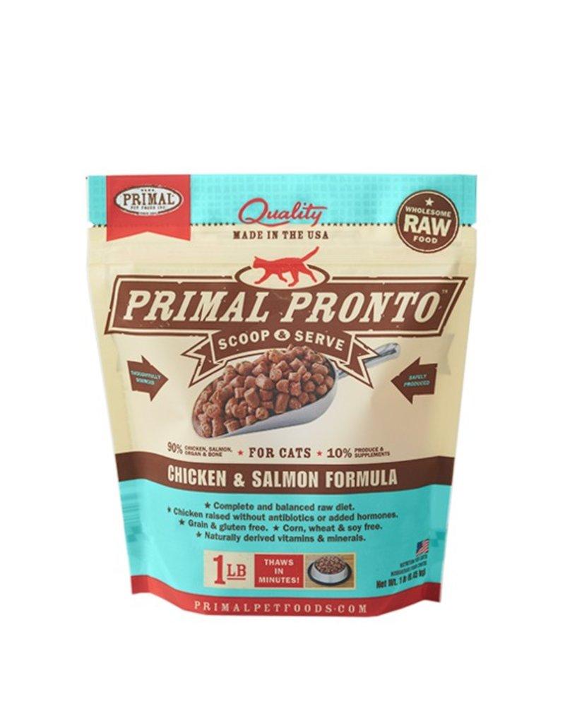 Primal Pet Foods PRIMAL Pronto Frozen Raw Feline Chicken & Salmon Formula 1 lb.