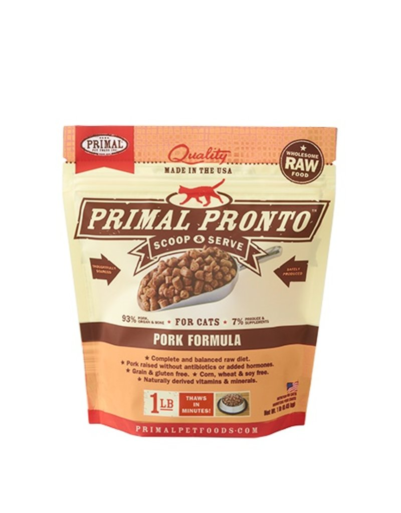 Primal Pet Foods PRIMAL Pronto Frozen Raw Feline Pork 1 lb.