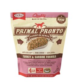 Primal Pet Foods PRIMAL Pronto Frozen Raw Canine Turkey & Sardine Formula 4 lb.