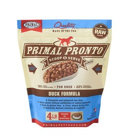 Primal Pet Foods PRIMAL Pronto Frozen Raw Canine Duck Formula 4 lb.