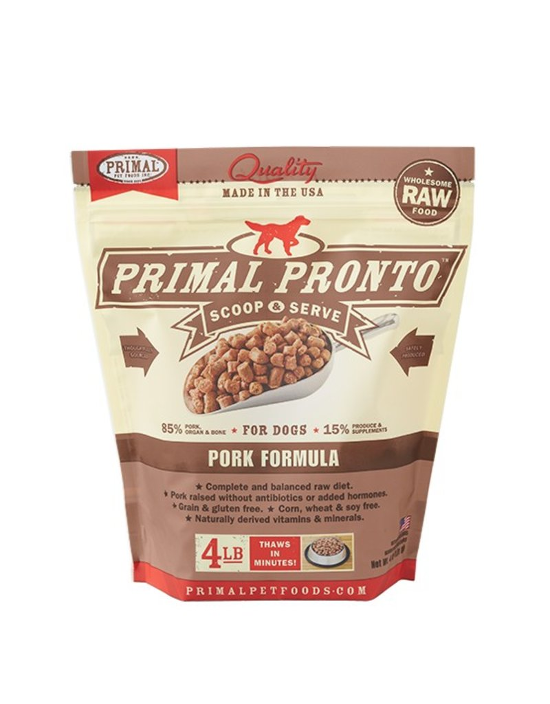 Primal Pet Foods PRIMAL Pronto Frozen Raw Canine Pork Formula 4 lb.