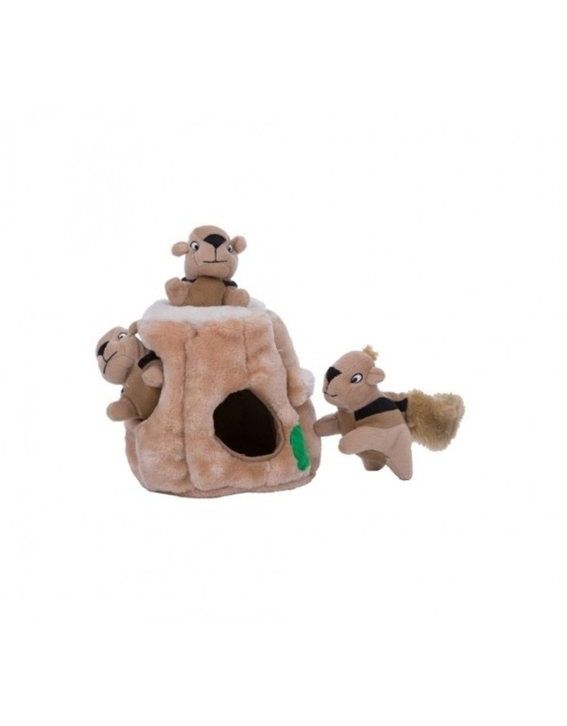 KYJEN COMPANY HIDE-A-SQUIRREL Plush Puzzle Toy