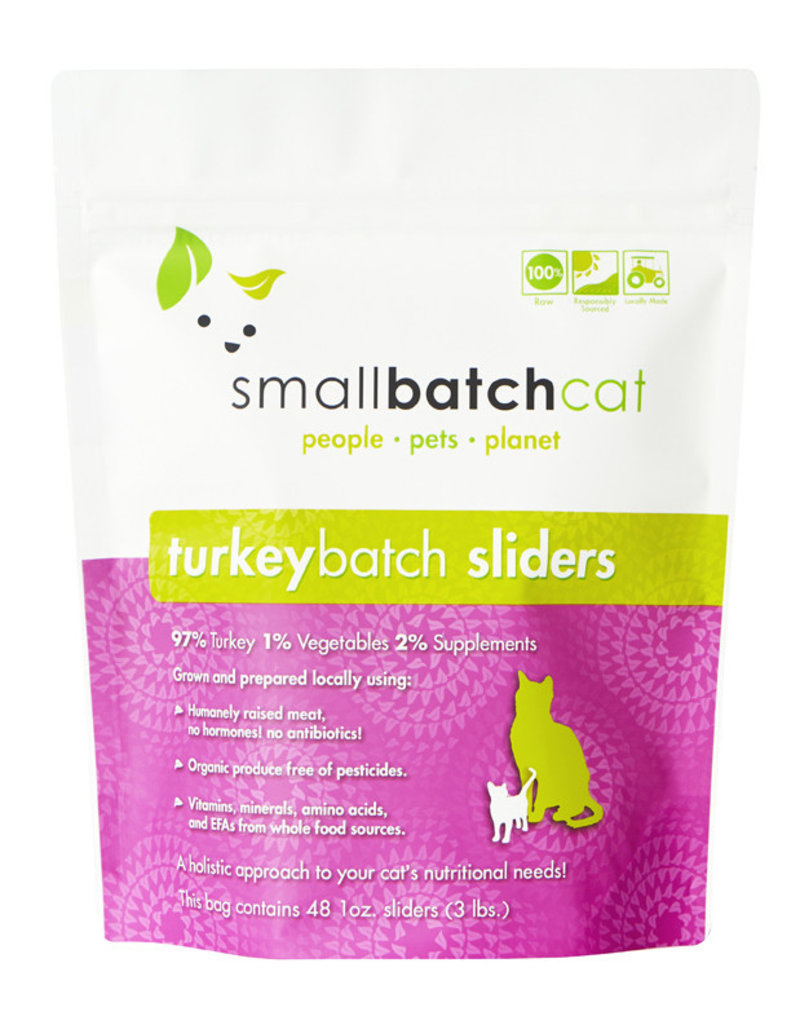 SMALL BATCH SMALL BATCH Frozen Turkey Sliders Cat Food 3lb