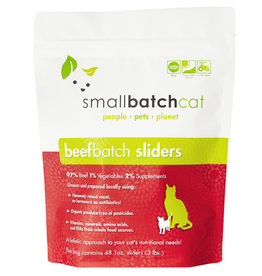 SMALL BATCH SMALL BATCH Frozen Beef Sliders Cat Food 3lb