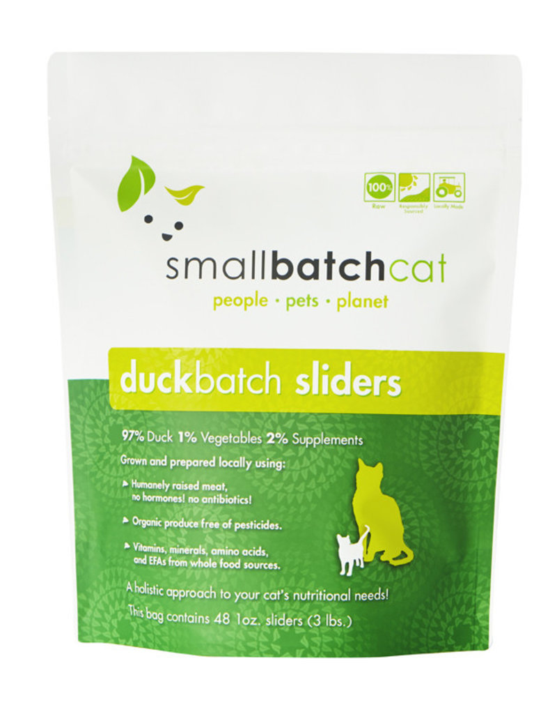 SMALL BATCH SMALL BATCH Frozen Duck Sliders Cat Food 3lb
