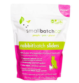 SMALL BATCH SMALL BATCH Frozen Rabbit Sliders Cat Food 3lb
