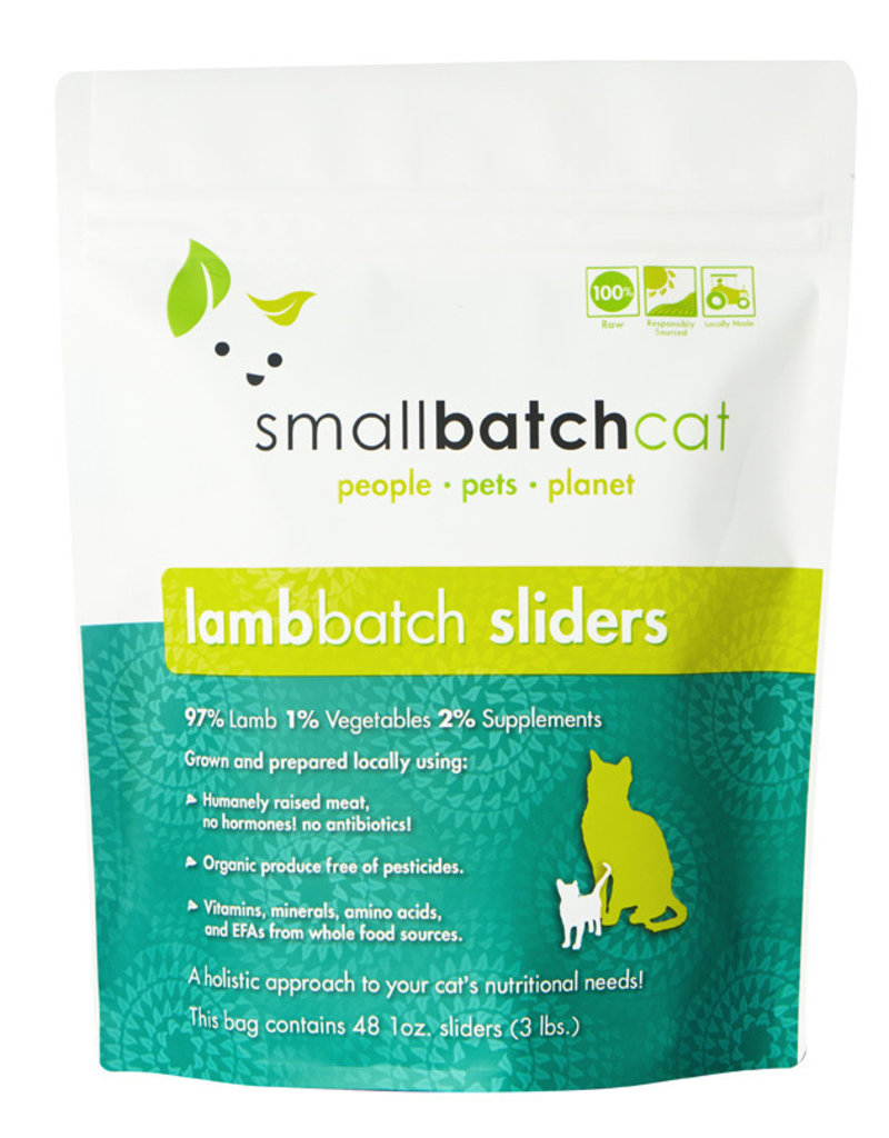 SMALL BATCH SMALL BATCH Frozen Lamb Sliders Cat Food 3lb