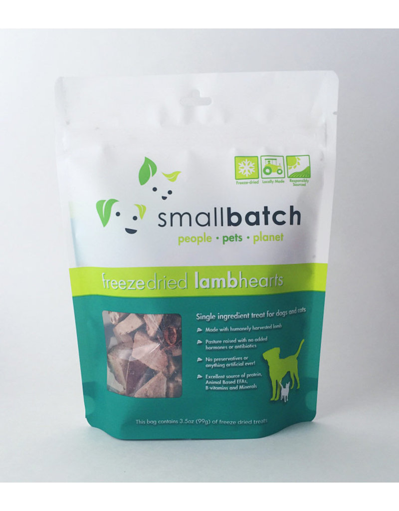 SMALL BATCH SMALL BATCH Freezedried Lamb Heart Dog & Cat Treats 3.5 oz.