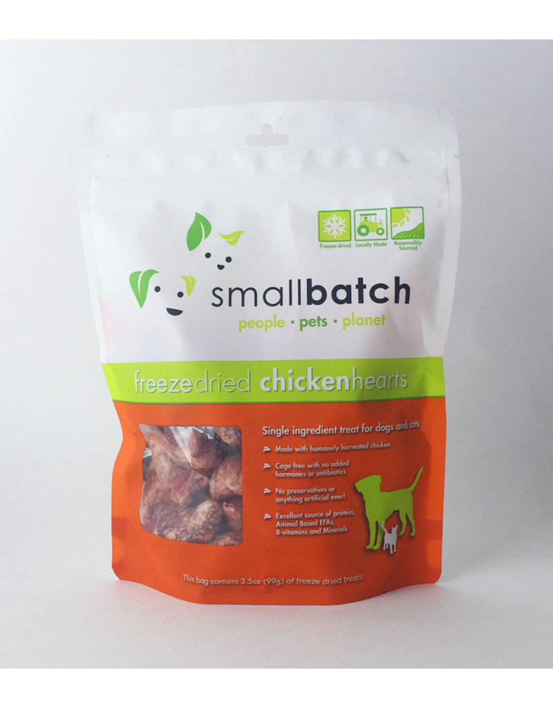 SMALL BATCH SMALL BATCH Freezedried Chicken Heart Dog & Cat Treats 3.5 oz.