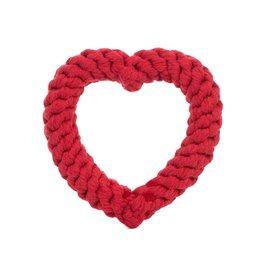Jax & Bones GOOD KARMA Red Heart Rope Toy