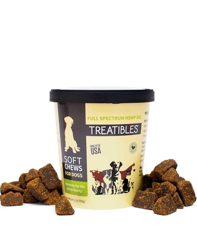 TREATIBLES TREATIBLES Full Spectrum Hemp Oil Soft Chew for Dogs 60ct
