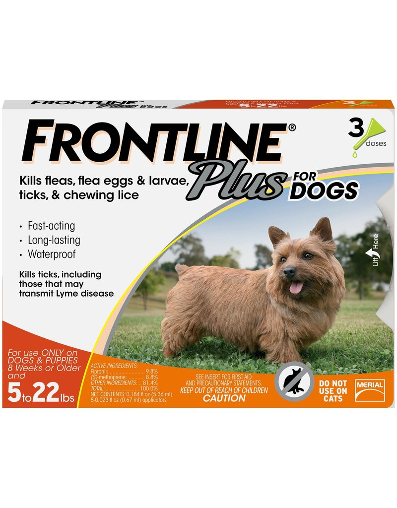 FRONTLINE FRONTLINE PLUS for Dogs 5-22lb 3pk