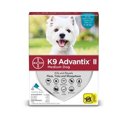 Bayer !K9 ADVANTIX II Teal 11-20lb