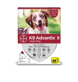 Bayer !K9 ADVANTIX II Red 21-55lb