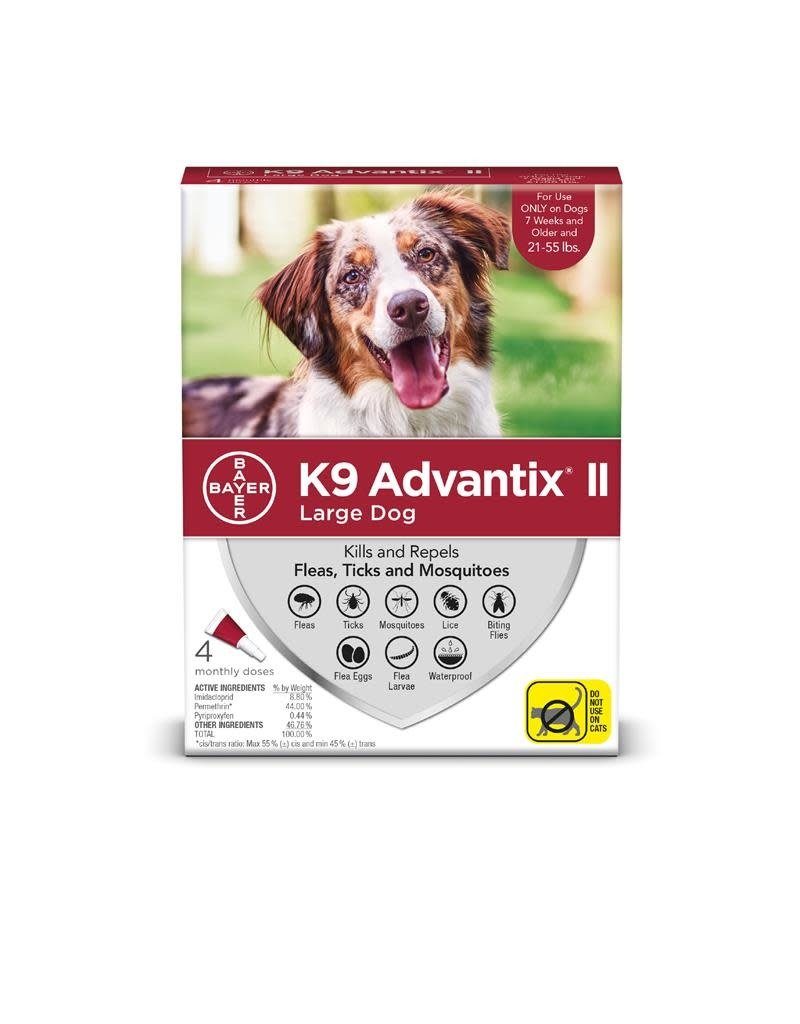 Bayer !K9 ADVANTIX II Red 21-55lb