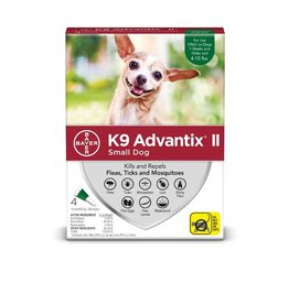 Bayer !K9 ADVANTIX II Green 1-10lb