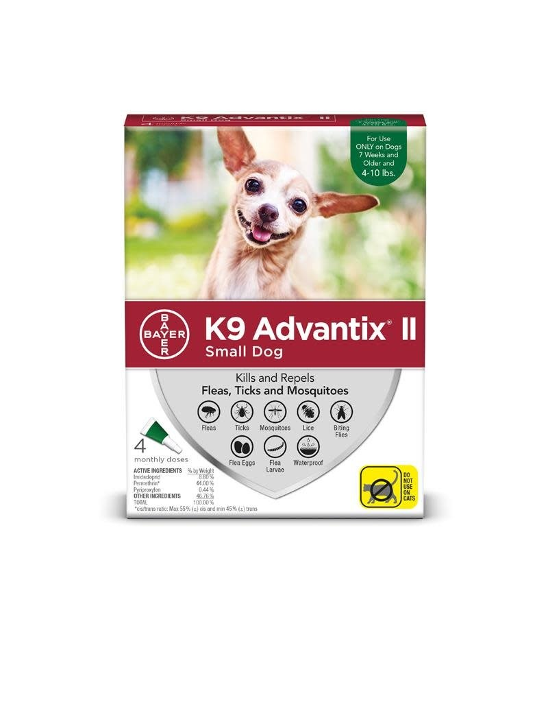 Bayer !K9 ADVANTIX II Green 1-10lb