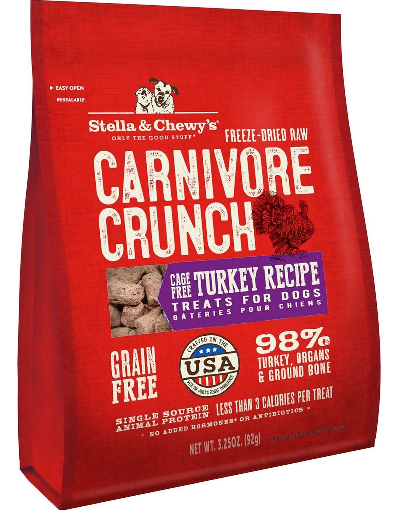 Stella & Chewy's STELLA & CHEWY'S Turkey Recipe Carnivore Crunch Dog & Cat Treats 3.25 oz.
