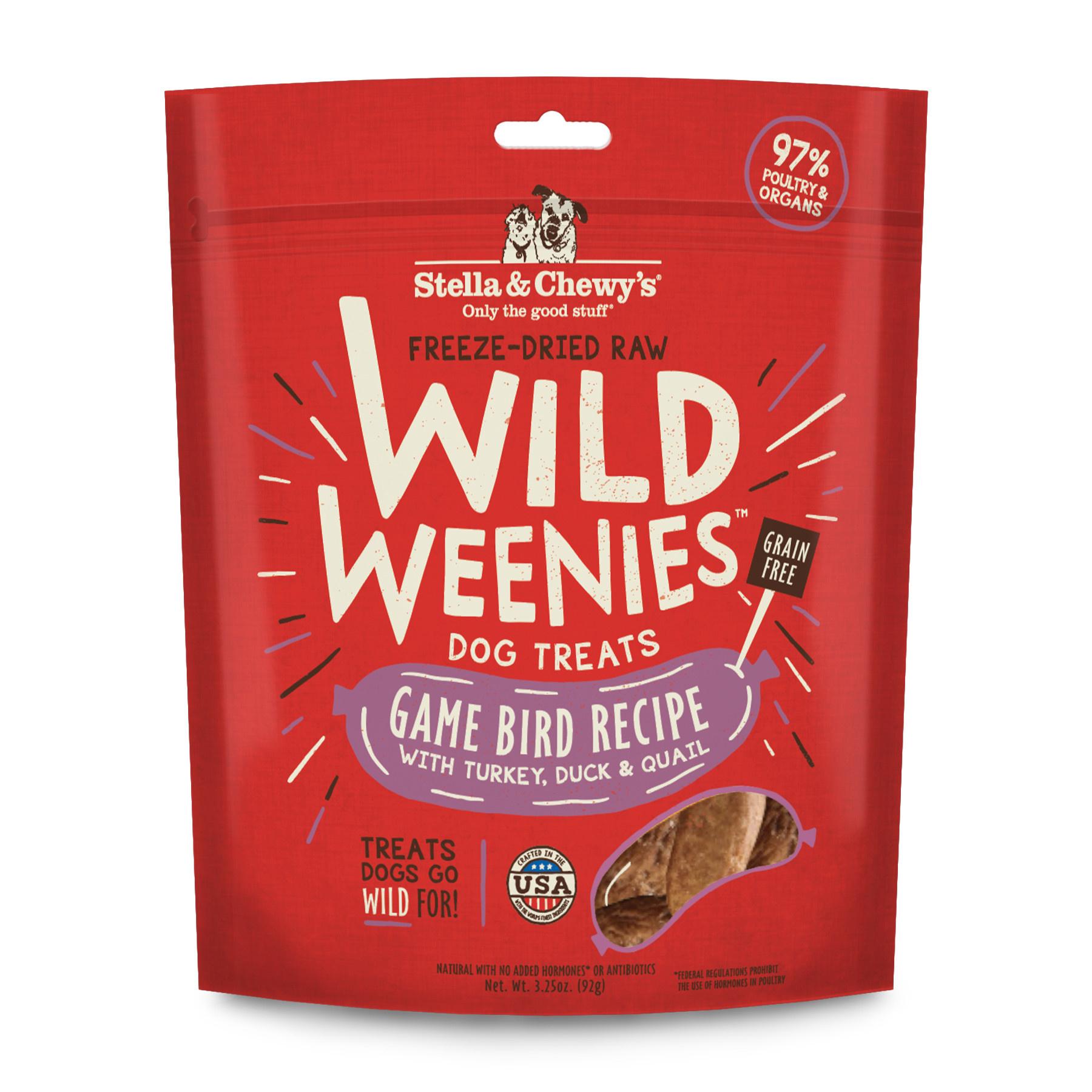 Stella & Chewy's STELLA & CHEWY'S Game Bird Wild Weenies Dog Treats 3 25 oz