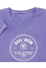 SPOILED ROTTEN DOGZ Dog Mom Woman Ladies V-Neck Tshirt - Violet