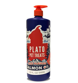 Plato Pet Treats PLATO Wild Alaskan Salmon Oil 32 oz