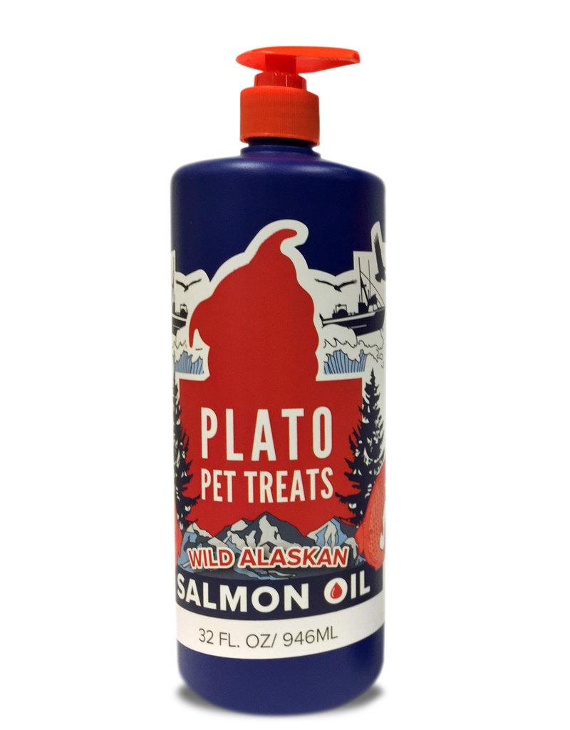 Plato Pet Treats PLATO Wild Alaskan Salmon Oil 32 oz