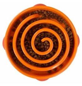 OUTWARD HOUND OUTWARD HOUND Fun Feeder Slo-Bowl - Orange