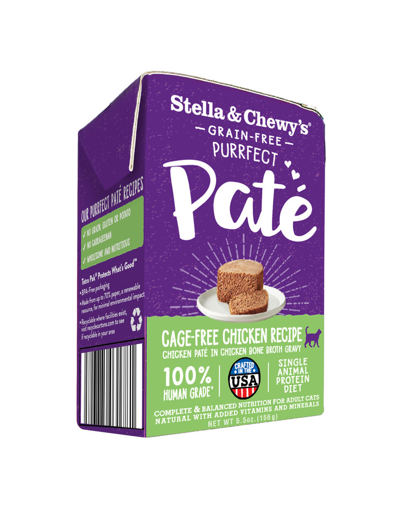 Stella & Chewys STELLA & CHEWY'S Purrfect Pate Chicken Recipe for Cats 5.5oz CASE/12
