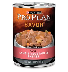 Nestle PURINA PRO PLAN Savor Lamb and Vegetable Canned Dog Food  Case 12/13oz