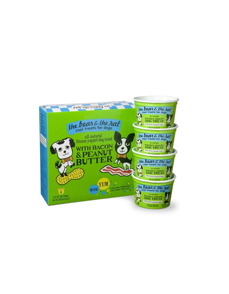 BEAR & RAT THE BEAR & THE RAT Frozen Yogurt Dog Treat Peanut Butter Bacon 4/pk