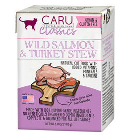CARU CARU Cat Food Classic Salmon & Turkey Stew 6 oz 12/Case