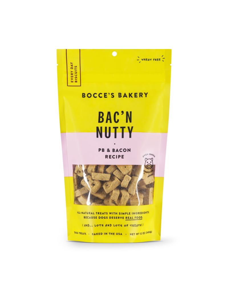Bocces Bakery BOCCE'S Dog Biscuits Bacon Nutty 12OZ