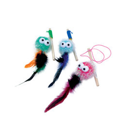 COASTAL PET PRODUCTS Turbo Monster Wand with Feathers Cat Toy